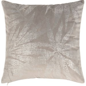 Maisons Du Monde Grey Cushion Cover With Silver Print 40x40 3611871959273 Home Textiles, Grey