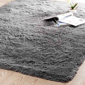 Maisons Du Monde Grey Fabric Long Pile Rug 160 X 230cm 3611871316250 Home Textiles, Grey