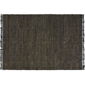 Maisons Du Monde Handmade Black Recycled Cotton And Jute Rug 200x300 3611872140205 Home Textiles, Beige