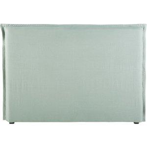 Maisons Du Monde Jade Green Washed Linen Headboard Cover 160 3611871891009 Home Textiles, Green