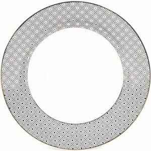 Maisons Du Monde Kate Porcelain Dinner Plate, D 27cm 3611871529445 Tables, Silver
