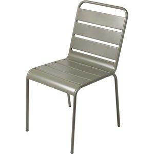 Maisons Du Monde Khaki Green Metal Garden Chair Batignolles 3611871866281, Green
