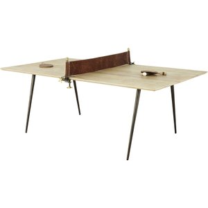 Maisons Du Monde Mango Wood And Metal 8-10 Seater Dining Table W207 3611871883172 Tables, Brown