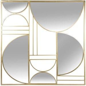 Maisons Du Monde Mirror And Gold Metal Wall Art 80x80cm 3611872125516 , Gold