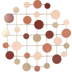 Maisons Du Monde Multicoloured Metal Circle Wall Art 60x60 3611871959112 Decorations, Gold