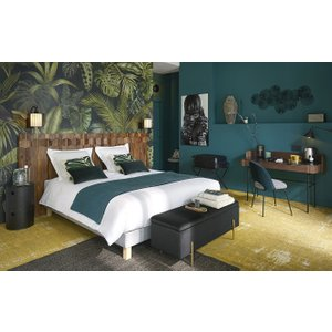 Maisons Du Monde Non-woven Wallpaper With Plant Print 288x350 3611872014063 , Green