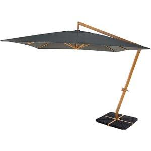 Maisons Du Monde Offset Parasol In Aluminium And Anthracite Fabric 3 X 3 M Camberra 3611871643813 Garden & Leisure, Grey