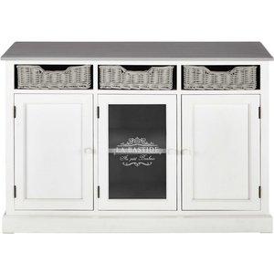 Maisons Du Monde Paulownia White Sideboard Garrigue 3611871560707, White