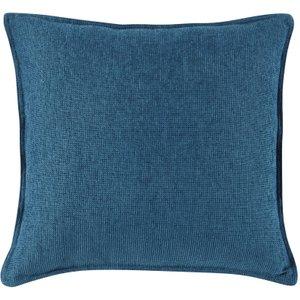 Maisons Du Monde Peacock Blue Velvet Cushion 45x45 3611871889440 Home Textiles, Blue