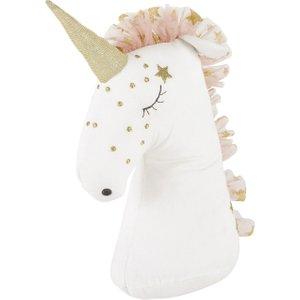 Maisons Du Monde Pink And White Unicorn Door Stop 3611871933792 , Pink