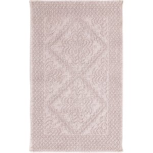 Maisons Du Monde Pink Tufted Cotton Bath Mat 65x100 3611871895984 Home Textiles, Pink