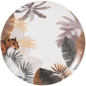 Maisons Du Monde Porcelain Dessert Plate With Panther Print 3611871846337 Tables, Multicoloured
