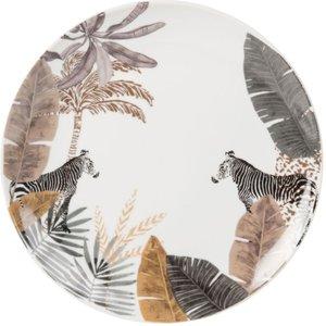 Maisons Du Monde Porcelain Dessert Plate With Zebra Print 3611871846351 Tables, Multicoloured