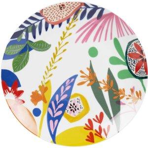 Maisons Du Monde Porcelain Dinner Plate With Multicoloured Print 3611872050627, Multicolour