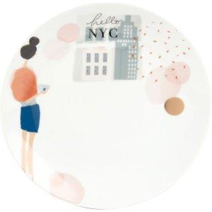 Maisons Du Monde Printed White Porcelain Dinner Plate 3611871973903 Tables, Multicoloured