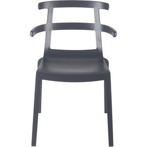 Maisons Du Monde Professional Anthracite Grey Polypropylene Garden Chair 3611871981809, Grey