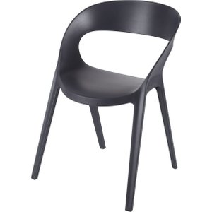 Maisons Du Monde Professional Anthracite Grey Polypropylene Garden Chair 3611871981861, Grey