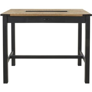 Maisons Du Monde Professional Mango Wood And Metal High Dining Table L125 3611871981205 Tables, Black