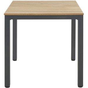 Maisons Du Monde Professional Metal And Teak Garden Table L75 3611871981274, Black