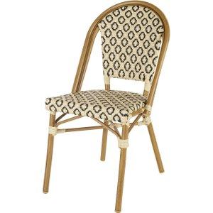 Maisons Du Monde Professional Quality Black And Beige Woven Resin Garden Chair 3611872090357 , Beige