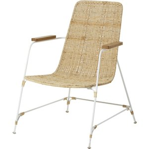 Maisons Du Monde Rattan Wicker And White Metal Armchair 3611871878086 Chairs, White