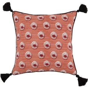 Maisons Du Monde Red And Black Patterned Cotton Cushion Cover 40x40 3611871955022 Home Textiles, Black