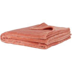 Maisons Du Monde Red Faux Fur Throw 150x230 3611871982158 Home Textiles, Pink