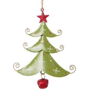 Maisons Du Monde Red Glass And Metal Hanging Christmas Tree Decoration 3611871625277 Decorations, Green