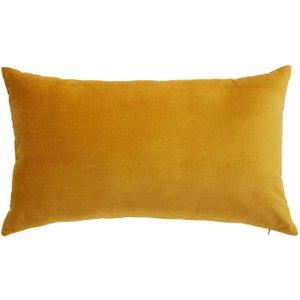 Maisons Du Monde Savora Mustard Yellow Velvet Cushion 30 X 50 Cm 3611871673940 Home Textiles, Yellow