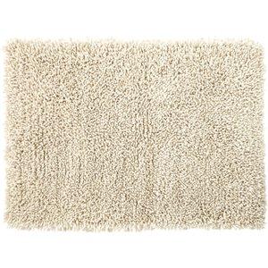 Maisons Du Monde Shaggy Wool And Cotton Rug In Ecru 160x230 3611871896189 Home Textiles, Beige