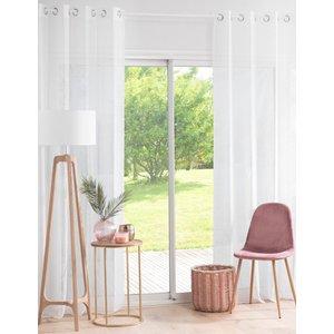 Maisons Du Monde Single White Eyelet Curtain With Gold Sequins 140x250 3611872019280 Home Textiles, White