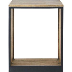Maisons Du Monde Slate Grey Solid Mango Wood Kitchen Base Unit For Built-in Dishwasher 3611872001636 , Grey