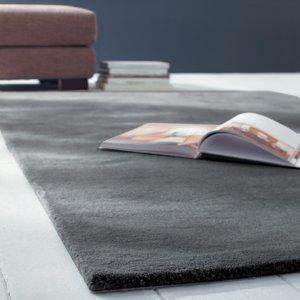Maisons Du Monde Woollen Low Pile Rug In Charcoal Grey 160 X 230cm 3611871118007 Home Textiles, Grey