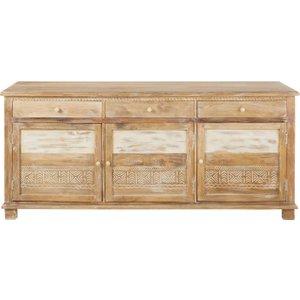 Maisons Du Monde Solid Mango Wood 3-door Sideboard Caraiba 3611871755684 Storage