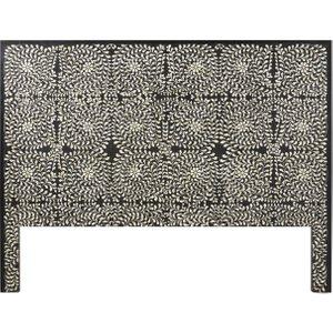 Maisons Du Monde Solid Mango Wood And Bone Inlay Headboard W160 Anoushka 3611871879649 Tables, Brown