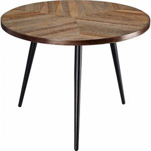 Maisons Du Monde Teak And Black Metal End Table 3611871656509 Tables, Black