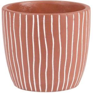 Maisons Du Monde Terracotta Cement Plant Pot H13 3611872045562 Decorations, Orange