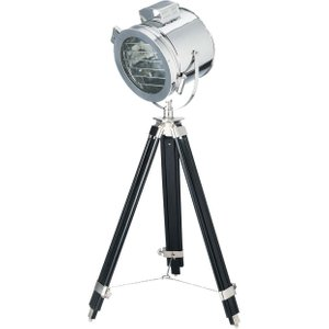 Maisons Du Monde Tripod Floor Lamp In Chrome Finish Metal H128 3611871171552 , Silver