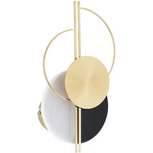 Maisons Du Monde Wall Light In Black And White Marble And Gold Metal 3611872145408, White