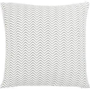 Maisons Du Monde White And Charcoal Grey Cotton Gauze Cushion Cover 40x40cm 3611872146665 Home Textiles, White
