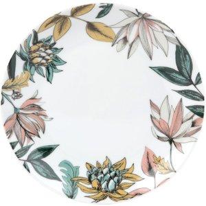Maisons Du Monde White Floral Print Porcelain Dessert Plate 3611871947812 Tables, Multicoloured