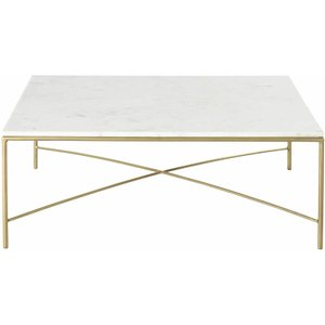 Maisons Du Monde White Marble And Brass Metal Coffee Table 3611871996629 Tables, White