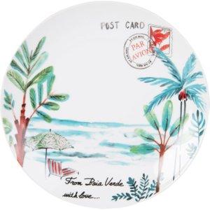 Maisons Du Monde White Porcelain Dessert Plate With Landscape Print 3611871899944 Tables, Multicoloured