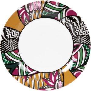Maisons Du Monde White Porcelain Dessert Plate With Multicoloured Print 3611872074111 , Multicolour