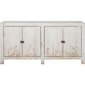 Maisons Du Monde White Recycled Pine 4-door Sideboard Jasmin 3611871875252 Storage
