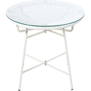 Maisons Du Monde White Resin And Glass Garden Coffee Table 3611871864683 Tables, White