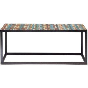 Maisons Du Monde Wood And Metal Coffee Table, Multicoloured W 100cm Bahia 3611871102785 Tables, Multicoloured