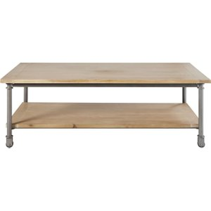 Maisons Du Monde Wood And Metal Coffee Table On Castors W 135cm Archibald 3611871157730 Tables