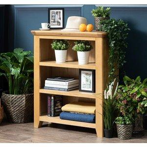 B & S Addison Natural Oak Low Bookcase, Natural Oak