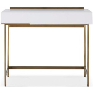 Space London Alderton White Matt Lacquer And Brass Brushed Dressing Table 119 252